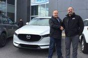 Félicitations M. Lespérance pour votre nouvelle Mazda CX5 2017