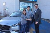 Félicitations M. Garcia pour votre nouvelle Mazda 3 2017