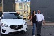 Félicitations Mme Janie Bélanger pour l'achat de votre nouvelle Mazda CX5