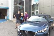 Félicitations Madame Demers pour votre nouvelle Mazda 3. 2017