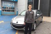 Félicitations M. Mathieu Chevigny pour l'achat de votre Mazda3