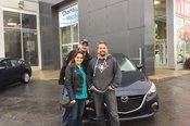 Félicitations Madame Mona Salimi pour votre nouvelle Mazda 3
