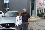 Félicitations Madame Pelletier pour l'achat de votre nouvelle Mazda CX5
