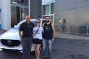 Félicitations M. Côté et Mme Fontaine Brais pour l'achat de votre nouvelle Mazda CX5 2017