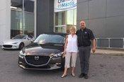 Félicitations Madame Desjardins pour votre nouvelle Mazda 3 2017