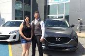 Félicitations M. Taillon Coulombe pour votre nouvelle Mazda CX5 2017