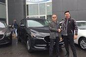 Félicitations à Monsieur Lavoie pour sa nouvelle MazdaCX5 2018
