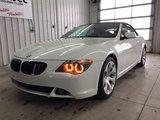 BMW 6 Series 645Ci Décapotable / Navigation 2005 Garantie 1 An ou 15 000 Km GMP/ CAA Inclus