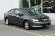 Honda Civic DX Rétroviseurs électriques! Lecteur CD! 2012 Prix liquidation!