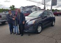 Merci beaucoup à Mme Sylvie Gosselin pour l'achat de sa nouvelle voiture.