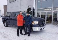 Un gros merci à M. Maxime Morin de Foresterie 2M de St Hubert pour l'achat de son nouveau camion un Ram 1500 EcoDiesel. Encore merci et bonne route.