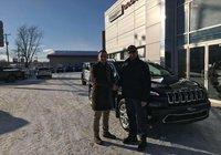 Merci à mon fidèle client M.Jean-Pierre Morin pour l'achat de son deuxième Cherokee chez nous! Bonne route.