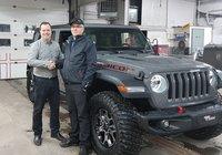 Un très gros merci à M. Stéphane Thériault pour l'achat de son tout nouveau Jeep Wrangler Rubicon. Vous allez faire beaucoup de jaloux. Bonne trail.