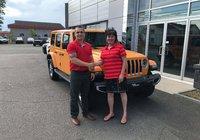 Merci à Mme. Nancy Proulx pour son superbe Jeep Wrangler édition Nachos. Bonne route !