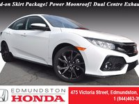 2017 Honda Civic Hatchback SPORT Add-on Skirt Package! Power Moonroof! Push Start! Dual Centre Exhaust!