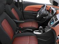 2016 Chevrolet Sonic Hatchback LT   Photo 1   Jet Black/Brick Deluxe Cloth