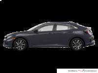 2017 Honda Civic hatchback LX   Photo 1   Polished Metal Metallic