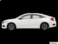 2017 Honda Civic Sedan LX-HONDA SENSING | Photo 1 | Taffeta White