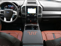 2018 Ford Super Duty F-250 KING RANCH   Photo 3   Unique King Ranch Java Kingsville Brown Leather Captain's Chairs (SP)