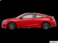 2018 Honda Civic Coupe LX   Photo 1   Rallye Red