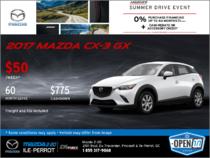 Get the 2017 Mazda CX-3 GX!