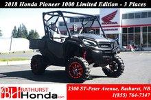 2018 Honda Pioneer 1000 Limited Edition - 3 seats