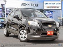 2016 Chevrolet Trax LS BLUETOOTH, 6 SPEED MANNUAL TRANSMISSION