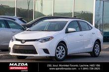 2015 Toyota Corolla A/C USB BLUETOOH BAS KILO JAMAIS ACCIDENTÉ