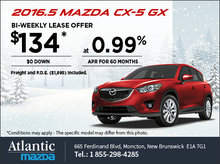 Lease the 2016.5 Mazda CX-5 GX Today!