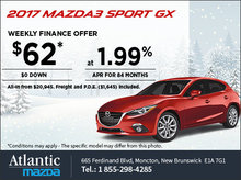 Save on an All-New 2017 Mazda3 Sport GX Today