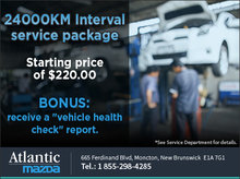 24,000-km Interval Service Package