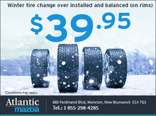 Winter Tire Installation and Balancing for $39.95