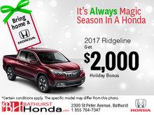 Get the Honda Ridgeline 2017!