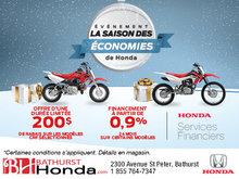 L'événement Saison des économies de Honda