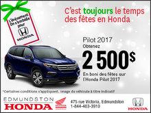 Obtenez la Honda Pilot 2017!