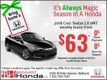 Get the 2018 Honda Civic Sedan LX 6MT today!