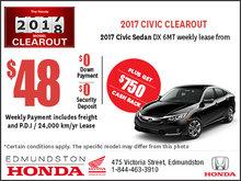 Get the 2017 Honda Civic Sedan Today!