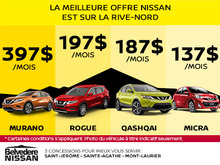 La meilleure offre Nissan est sur la Rive-Nord