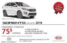 Achetez le nouveau Kia Sorento 2018