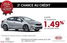 2e chance au crédit chez Chambly Kia