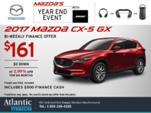 Get the 2017 Mazda CX-5 Today!