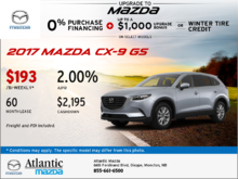 Save on the 2017 Mazda CX-9 GS Today!