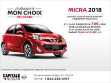 Louez la Nissan Micra 2018! chez Capitale Nissan