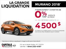 Le Nissan Murano 2018 chez Capitale Nissan