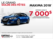 La Nissan Maxima 2018 chez Capitale Nissan