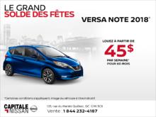 La Nissan Verssa Note 2018 chez Capitale Nissan