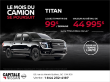 Obtenez le Nissan Titan 2018 dès aujourd'hui! chez Capitale Nissan