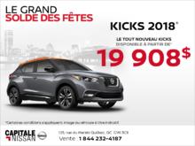 Obtenez le Nissan Kicks 2018 dès aujourd'hui! chez Capitale Nissan