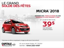 Obtenez le Nissan Micra 2018 dès aujourd'hui! chez Capitale Nissan
