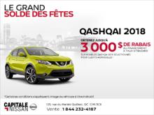 Obtenez le Qashqai 2018 dès aujourd'hui! chez Capitale Nissan